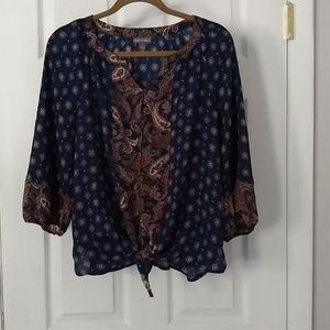 Roz & Ali blouse size petite Large,